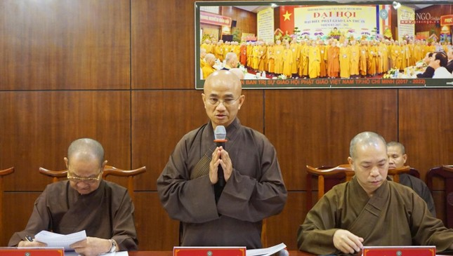 Ban Thường trực Ban Trị sự họp thảo luận, thống nhất các hoạt động Phật sự tại TP.HCM ảnh 6
