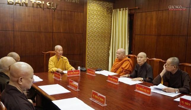 Ban Thường trực Ban Trị sự họp thảo luận, thống nhất các hoạt động Phật sự tại TP.HCM ảnh 3