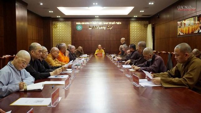 Ban Thường trực Ban Trị sự họp thảo luận, thống nhất các hoạt động Phật sự tại TP.HCM ảnh 11