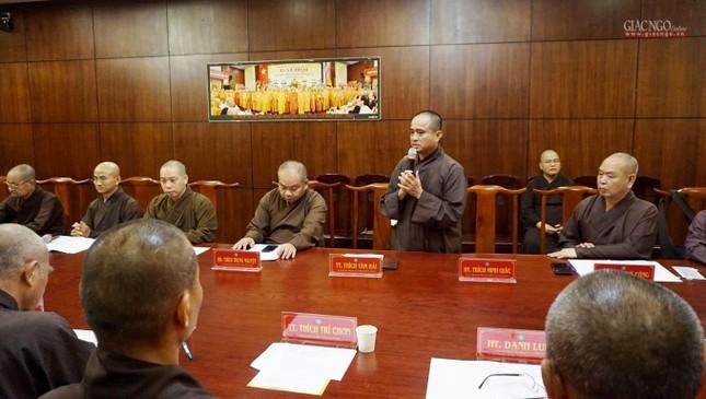 Ban Thường trực Ban Trị sự họp thảo luận, thống nhất các hoạt động Phật sự tại TP.HCM ảnh 10