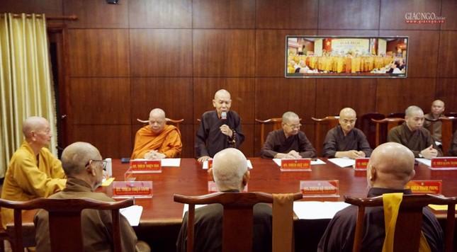 Ban Thường trực Ban Trị sự họp thảo luận, thống nhất các hoạt động Phật sự tại TP.HCM ảnh 5