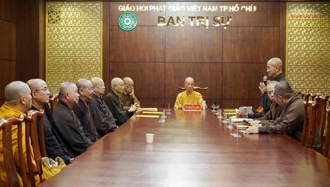 Ban Thường trực Ban Trị sự họp thảo luận, thống nhất các hoạt động Phật sự tại TP.HCM ảnh 2