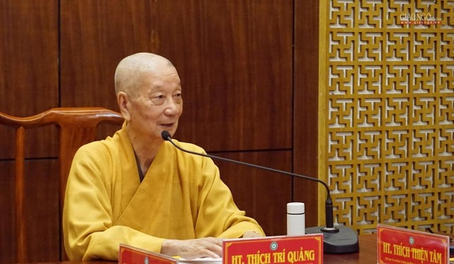 Ban Thường trực Ban Trị sự họp thảo luận, thống nhất các hoạt động Phật sự tại TP.HCM ảnh 1