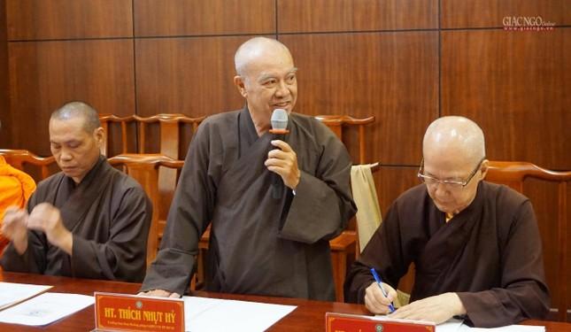 Ban Thường trực Ban Trị sự họp thảo luận, thống nhất các hoạt động Phật sự tại TP.HCM ảnh 7