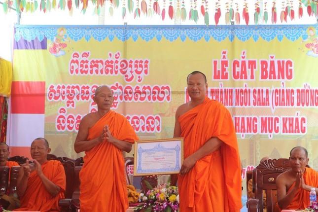 Kiên Giang: Khánh thành, đưa vào sử dụng giảng đường chùa Đồng Tranh ảnh 3