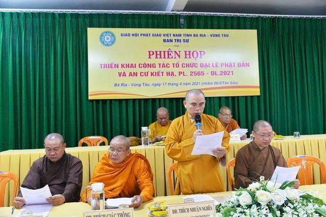 Bà Rịa - Vũng Tàu: Ban Trị sự triển khai công tác tổ chức Phật đản, An cư kiết hạ ảnh 2
