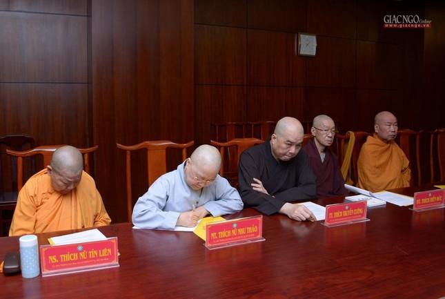 TP.HCM: Ban Thường trực Ban Trị sự thảo luận, thống nhất nhiều Phật sự quan trọng ảnh 8