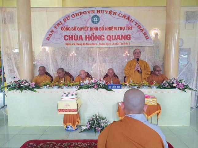 Tiền Giang: Bổ nhiệm Sư cô Thích nữ Đức Hoa làm trụ trì chùa Hồng Quang ảnh 2