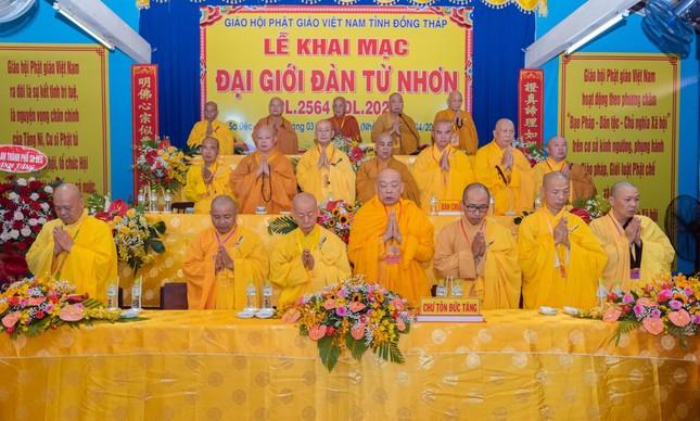 Đồng Tháp: Trang nghiêm khai mạc Đại giới đàn Từ Nhơn Phật lịch 2564 ảnh 1