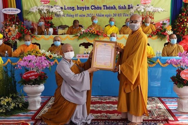 Lễ trao quyết định bổ nhiệm trụ trì chùa Phúc An ảnh 1