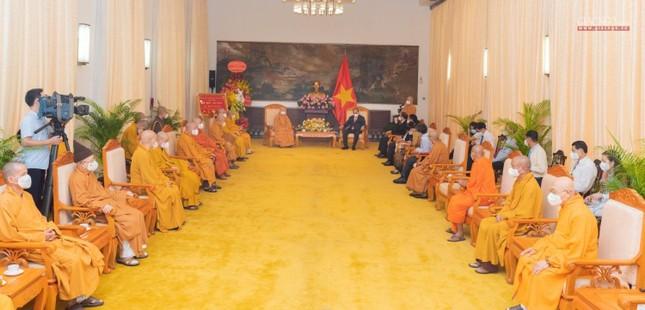 Chủ tịch nước Nguyễn Xuân Phúc tiếp chư tôn đức lãnh đạo cao cấp GHPGVN ảnh 1
