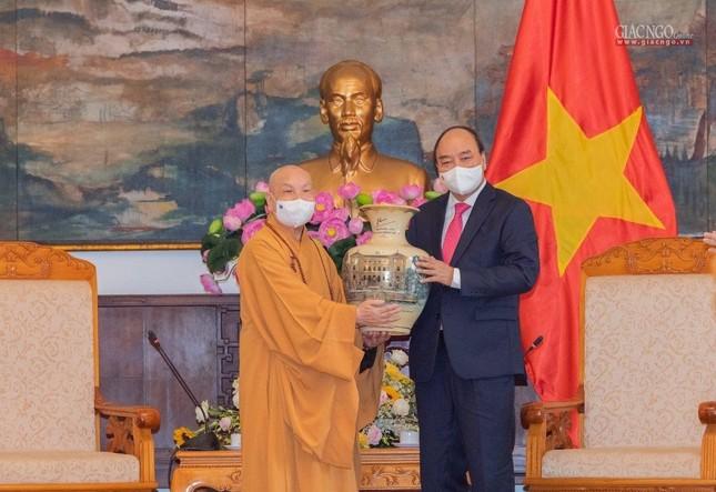 Chủ tịch nước Nguyễn Xuân Phúc tiếp chư tôn đức lãnh đạo cao cấp GHPGVN ảnh 7
