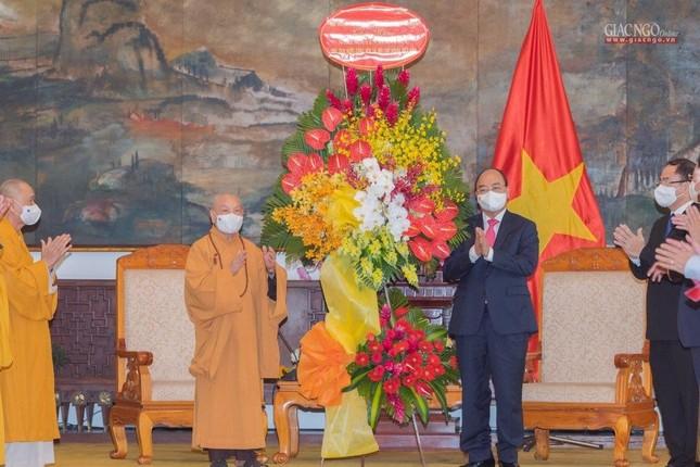 Chủ tịch nước Nguyễn Xuân Phúc tiếp chư tôn đức lãnh đạo cao cấp GHPGVN ảnh 6