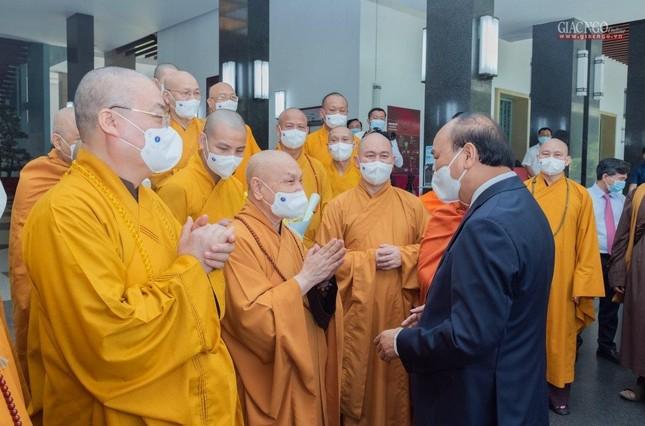 Chủ tịch nước Nguyễn Xuân Phúc tiếp chư tôn đức lãnh đạo cao cấp GHPGVN ảnh 5