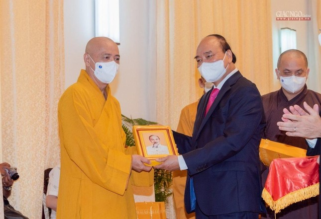 Chủ tịch nước Nguyễn Xuân Phúc tiếp chư tôn đức lãnh đạo cao cấp GHPGVN ảnh 4