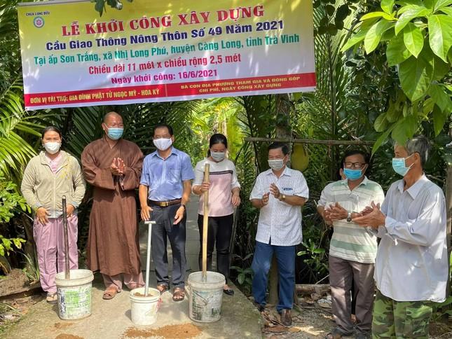 Chùa Long Bửu khởi công xây cầu nông thôn số 49 tại ấp Sơn Trắng ảnh 1
