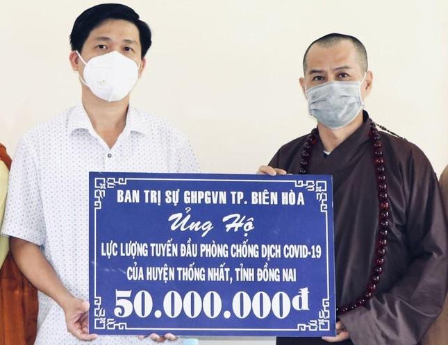 Ban Trị sự Phật giáo TP.Biên Hòa ủng hộ quỹ phòng chống dịch, tặng quà đến khu cách ly ảnh 1