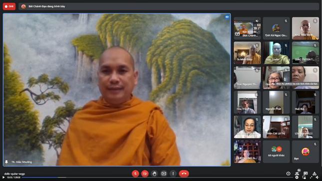 Chư Tăng Hệ phái Khất sĩ tọa đàm online về Phật pháp và tìm giải pháp đem lại bình an cho Phật tử ảnh 1