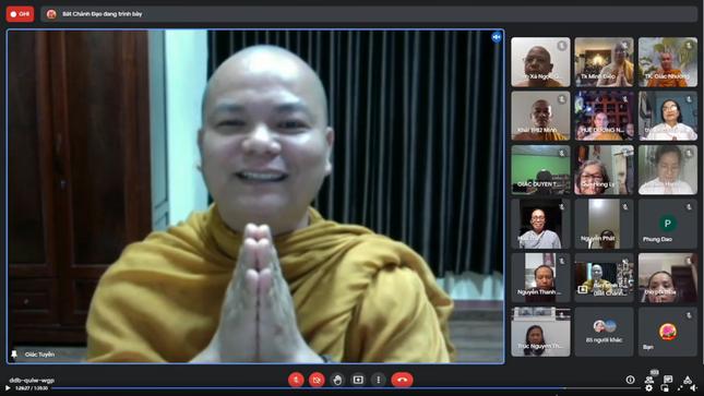 Chư Tăng Hệ phái Khất sĩ tọa đàm online về Phật pháp và tìm giải pháp đem lại bình an cho Phật tử ảnh 2