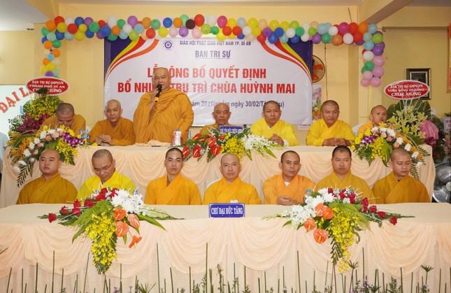 Bình Dương: Bổ nhiệm trụ trì chùa Huỳnh Mai, thành phố Dĩ An ảnh 4