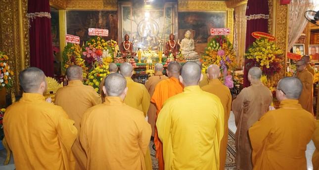 Trung ương Giáo hội chúc Tết Chôl Chnăm Thmây tại chùa Candaransi ảnh 1