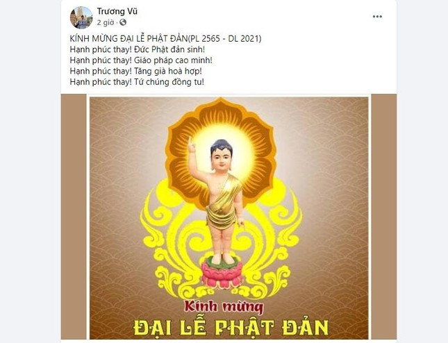 Bạn trẻ thay đổi hình đại diện trên facebook Kính mừng Phật đản Phật lịch 2565 ảnh 5