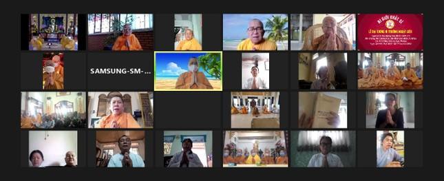 Lễ Đại tường Ni trưởng Thích nữ Ngoạt Liên tại tổ đình Ngọc Phương tổ chức trực tuyến ảnh 4