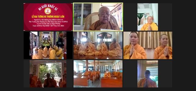 Lễ Đại tường Ni trưởng Thích nữ Ngoạt Liên tại tổ đình Ngọc Phương tổ chức trực tuyến ảnh 5