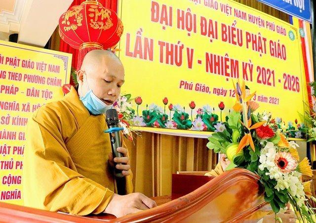Bình Dương: Đại hội đại biểu Phật giáo huyện Phú Giáo lần V nhiệm kỳ 2021-2026 ảnh 1
