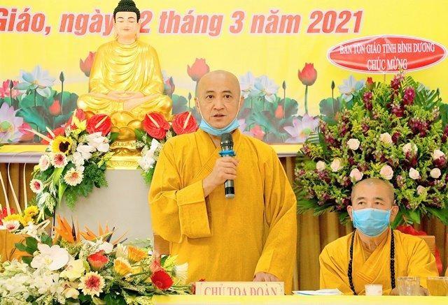 Bình Dương: Đại hội đại biểu Phật giáo huyện Phú Giáo lần V nhiệm kỳ 2021-2026 ảnh 4