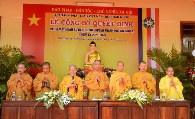 Đắk Nông: Đại đức Thích Giác Nhường làm Trưởng ban Trị sự Phật giáo TP.Gia Nghĩa ảnh 1