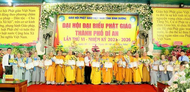 Bình Dương: Đại hội đại biểu Phật giáo TP.Dĩ An lần thứ VI ảnh 2