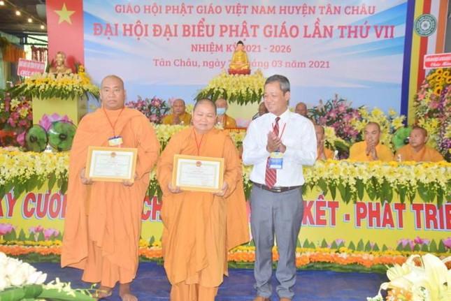 Tây Ninh: Đại hội đại biểu Phật giáo huyện Tân Châu lần thứ VII, nhiệm kỳ 2021-2026 ảnh 2