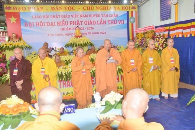 Tây Ninh: Đại hội đại biểu Phật giáo huyện Tân Châu lần thứ VII, nhiệm kỳ 2021-2026 ảnh 3