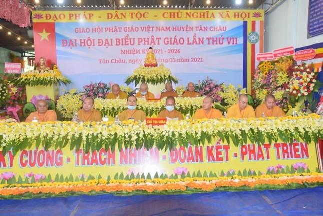 Tây Ninh: Đại hội đại biểu Phật giáo huyện Tân Châu lần thứ VII, nhiệm kỳ 2021-2026 ảnh 1