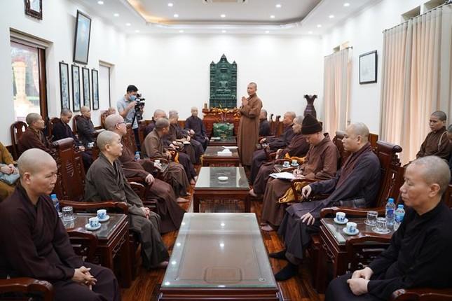 Ban Trị sự GHPGVN TP.Hà Nội họp chuẩn bị Đại giới đàn Phật lịch 2565 ảnh 1
