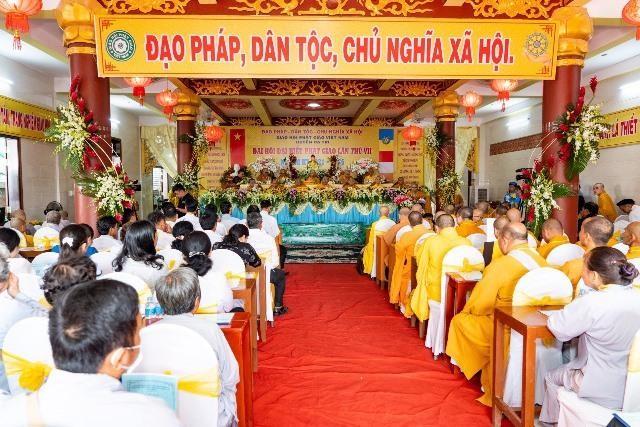 Bến Tre: Đại hội đại biểu Phật giáo huyện Ba Tri nhiệm kỳ VII (2021-2026) ảnh 1