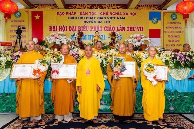 Bến Tre: Đại hội đại biểu Phật giáo huyện Ba Tri nhiệm kỳ VII (2021-2026) ảnh 3