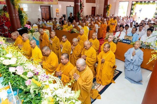 Bến Tre: Đại hội đại biểu Phật giáo huyện Ba Tri nhiệm kỳ VII (2021-2026) ảnh 5