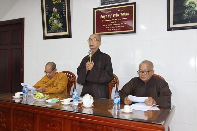 Bến Tre: Ban Trị sự GHPGVN tỉnh họp báo cáo công tác Phật sự tháng 3-2021 ảnh 1