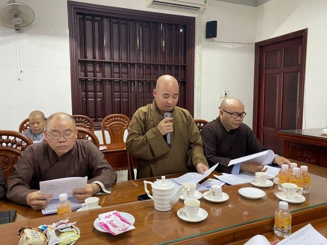 Bến Tre: Ban Trị sự GHPGVN tỉnh họp báo cáo công tác Phật sự tháng 3-2021 ảnh 2
