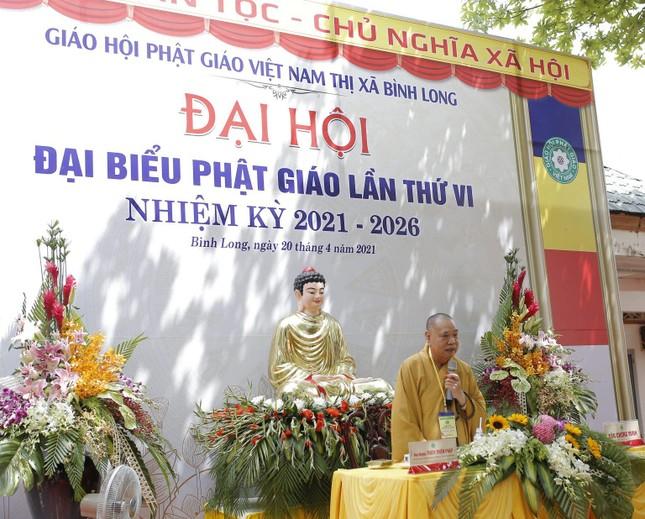 Thượng tọa Thích Chơn Lý tái nhiệm chức Trưởng ban Trị sự Phật giáo thị xã Bình Long (2021-2026) ảnh 5