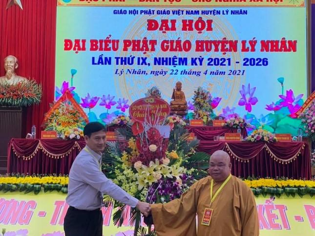 Thượng tọa Thích Thiện Hưởng tiếp tục làm Trưởng ban Trị sự Phật giáo huyện Lý Nhân ảnh 2