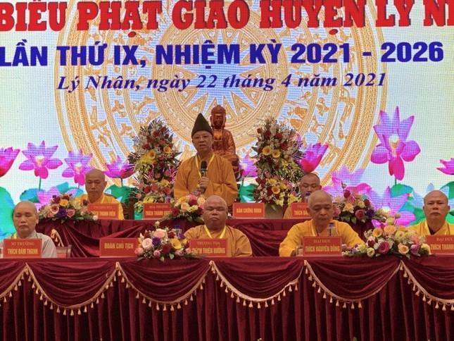 Thượng tọa Thích Thiện Hưởng tiếp tục làm Trưởng ban Trị sự Phật giáo huyện Lý Nhân ảnh 3