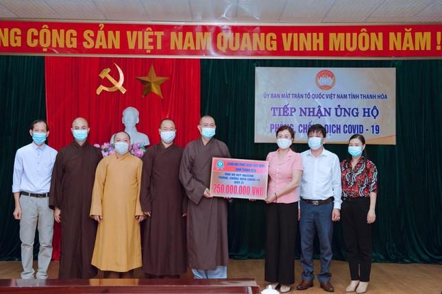 Phật giáo Thanh Hóa tiếp tục ủng hộ quỹ vắc-xin phòng chống dịch Covid-19 ảnh 1