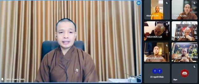 Ninh Bình: Hội nghị trực tuyến chuẩn bị Đại hội Phật giáo các huyện, thị nhiệm kỳ 2021-2026 ảnh 1