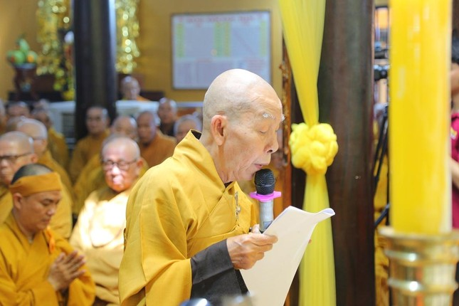 Lễ chung thất cố Hòa thượng Thích Nhật Ấn, bổ nhiệm trụ trì tổ đình Long Thạnh ảnh 1