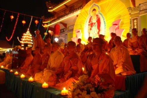 Đồng Nai: Sắc màu Hoa đăng nhân lễ vía Đức Phật A Di Đà tại chùa Phước Viên ảnh 22