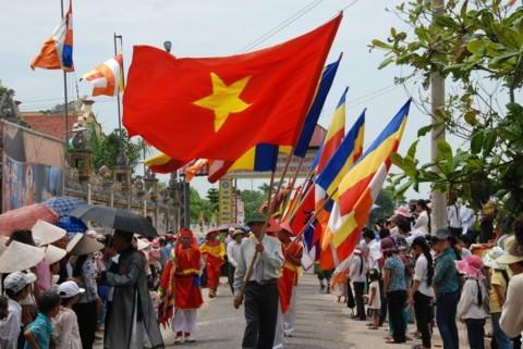 Ninh Bình: Đại lễ Phật đản và cung nghinh Xá lợi Phật về Tổ đình Kim Liên (chùa Đồng Đắc) ảnh 8