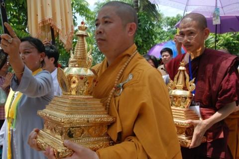 Ninh Bình: Đại lễ Phật đản và cung nghinh Xá lợi Phật về Tổ đình Kim Liên (chùa Đồng Đắc) ảnh 15
